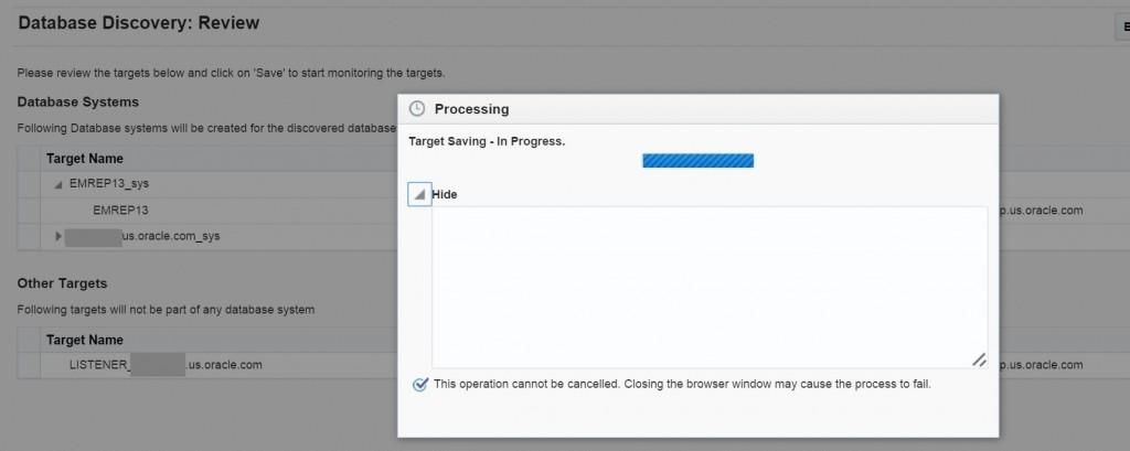 Adding Targets in Enterprise Manager 13c